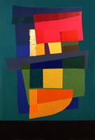 Rino Valdo, forme composte, tecnica mista, 100x150 ,anno 2006