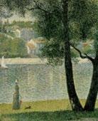 Georges Seurat, La Senna a Courbevoie, 1885, olio su tela, 81,4x65,2 cm. Collezione privata