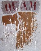 Franco Angeli, United States 1969 smalto su tela con tulle e gesso 110 X 90