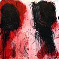 Senza volto, 2008, olio su tela cm 200 x 200