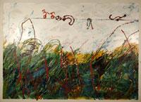 Mario Schifano, Il bambino pittore, 1985