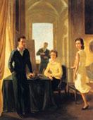 Gregorio Calvi di Bergolo, La mia famiglia, 1960, Olio su tela