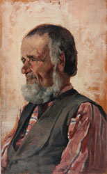 Giovanni Fattori (Livorno,1825 - Firenze,1908), Lupo di mare, 1885 ca. , olio su tavola, 36.5 x 22,5, collezione privata, Courtesy Enrico Gallerie d'arte , Milano