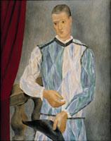 Arlecchino, 1917, Olio su tela, 116 x 90 cm, Barcellona, Museu Picasso, © Succession Picasso 2008