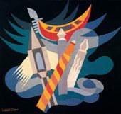 Fortunato Depero (1892-1960), Ritmi veneziani, 1924, tarsia di stoffe colorate, cm 83×81,5, © F. Depero by SIAE 2008