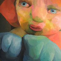 Marta Sesana, Nella massa, 2009 olio su lino 50 x 50 cm