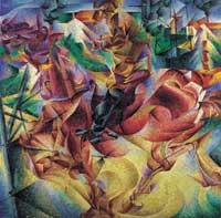 Umberto Boccioni, Elasticità, 1912, Olio su tela, 100x100 cm, Milano, Civico Museo d'Arte Contemporanea