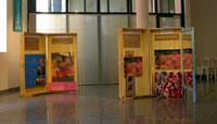 Bauli di legno con opere di Gauguin