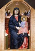 Giotto di Bondone, Madonna col Bambino in trono e due angeli (in origine nella chiesa di San Giorgio alla Costa), circa 1295, Tavola, 180 x 90 cm, Firenze, Museo Diocesano