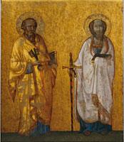 Giotto e bottega, I Santi Apostoli Pietro e Paolo, circa 1325-1335, Tempera trasportata su rame, 130 x 95 cm, Città del Vaticano, Museo del Tesoro di S. Pietro, Basilica Vaticana