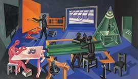 Fortunato Depero, La Casa del Mago, 1928, olio su tela; 150x206 cm, Collezione privata