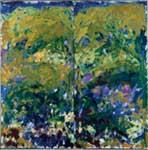 Joan Mitchell, La Grand Vallée IX, 1983-84 Olio su tela, 260 x 260 cm Dittico (2 pannelli) Francia, Collezione FRAC Haute Normandie
