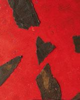 Ciò che resta del fuoco, 2007, pittura su tavola e lamiera, diametro cm 55