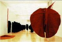 Magdalena Abakanowicz, Abakan red, 1969, sisal e metallo, 300x300x350 cm, courtesy Tate Modern London
