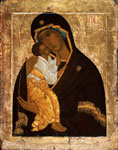 Madre di Dio di Jaroslavl', seconda meta' del XV (?) sec. tempera su tavola, 54x42 cm