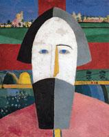 Kazimir Malevich, Testa di contadino, 1928 1929, Olio su compensato, 69x55 cm