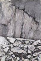 Wilffrid Moser - Ohne Titel (Parois), 1976 ca - acrilico e gesso su tela, 130 x 89 cm - Stiftung Wilfrid Moser, Zürich