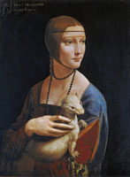 Leonardo da Vinci, La dama con l'ermellino, 1488-1490