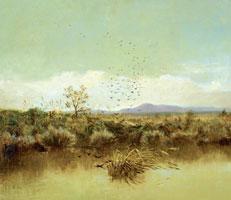 Giuseppe De Nittis: Sull'Ofanto, olio su tela, cm 50x58. Pinacoteeca Provinciale Corrado Giaquinto, Bari