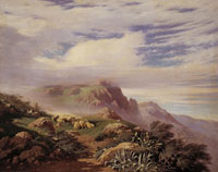"Francesco Lojacono: Vento di montagna, olio su tela, cm 106x134. Galleria d'Arte Moderna ""Empedocle Restivo"" Palermo"