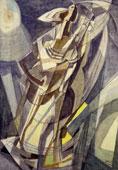 Afro Basaldella: Negro della Louisiana, 1951, tecnica mista su tela, cm 150x100