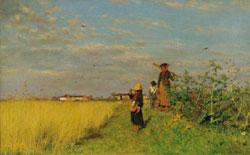Francesco Gioli, Ai campi in giugno, 1880