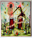 Davide Zucco, Burning colours trying to turn my blood black, 2009, 100x120