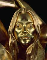 Siren, 2008, 18ct oro/gold, 88 x 65 x 50 cm, Copyright Marc Quinn, Courtesy Byblos Art Gallery