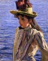 Pietro Troubetzkoy, Ragazza sul lago, 1889, olio su tela, 60x48 cm, Collezione privata