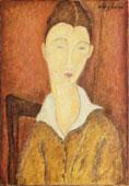 Amedeo Modigliani, Jeune femme à la guimpe blanche, 1918, olio su tela, cm 73 x 50   Lettera inviata da Simone Thiroux ad Amedeo