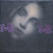 Omar Galliani, Nuovi Fiori, 50x50, olio su tela, 2009