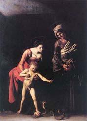 Caravaggio, Madonna dei Palafrenieri, 1605, Olio su tela, 292 x 211 cm, Galleria Borghese, Roma