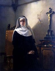 Giuseppe Molteni, La Signora di Monza, 1847, olio su tela, Pavia, Musei Civici