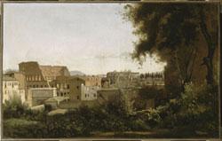 Camille Corot, Le Colisée vu des jardins Farnèse, Paris, Musée du Louvre