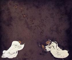 Antoni Tàpies: Visio, 1996 tecnica mista su legno 250x300 cm