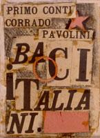 Primo Conti: Baci italiani, 1919 collage su cartone, cm 24,5x18,3. Fondazione Primo Conti, Fiesole