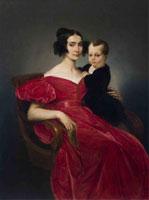 Francesco Hayez, Ritratto della contessa Teresa Zumali Marsili con il figlio Giuseppe, 1833, olio su tela, 121,7x86,2 cm - Lodi, Azienda Ospedaliera (in deposito presso Musei Civici di Lodi)