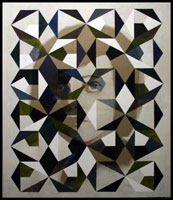 Mathias Bitzer: Restless Glance, 2008, Inchiostro su tela 210 x 180 cm. UniCredit Collection © Mathias Bitzer