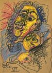 Pablo Picasso, Buste de femme, 1971, matita e pastelli su carta, cm.31x21,6