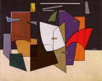 Atanasio Soldati Allegro e fuga olio su tela, 1949-1950. Mostra Museo d'arte contemporanea di Lissone, 1947-1958