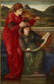 E. Burne-Jones, Musica,, olio su tela, The Ashmolean Museum, Oxford
