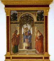 Cima da Conegliano, Madonna in trono con il Bambino tra i santi Giacomo e Girolamo, Vicenza, Musei Civici di vicenza, Pinacoteca di Palazzo Chiericati