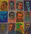 Gilberto Giovagnoli, Ferdinand Celine, 2010, pennarelli e penne colorate su carta, cm 180x110 (particolare)