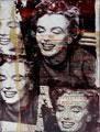 Giuliano Grittini,Marilyn Monroe, opera  su tela, tecnica mista,2009,08