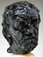 Auguste Rodin, L'uomo dal naso rotto, 1864, bronzo, 31,5 x 15 x 17 cm