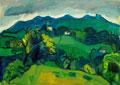 Giorgio Dario Paolucci: Monfumo, 1967, Olio su tela 70 x 100