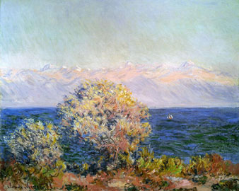 Claude Monet: Cap d'Antibes, Mistral, 1888 olio su tela, cm 66 x81,3. Boston, Museum of Fine Arts
