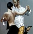 Un tango ancora, olio su tela,  cm 80x80,  2010