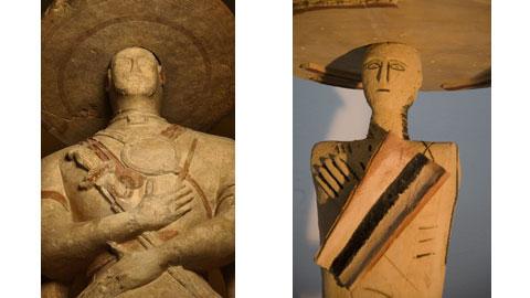 Particolare del Guerriero di Capestrano - Mimmo Paladino, Guerriero Fondazione Carichieti palazzo de mayo