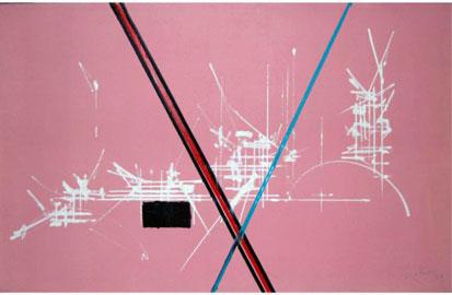 Georges Mathieu, Artins, 1969, olio su tela, cm 61x93